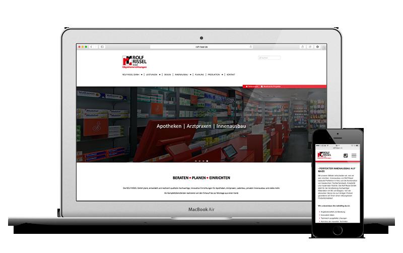 danèldelight - Neugestaltung der Website von Rolf Rissel GmbH